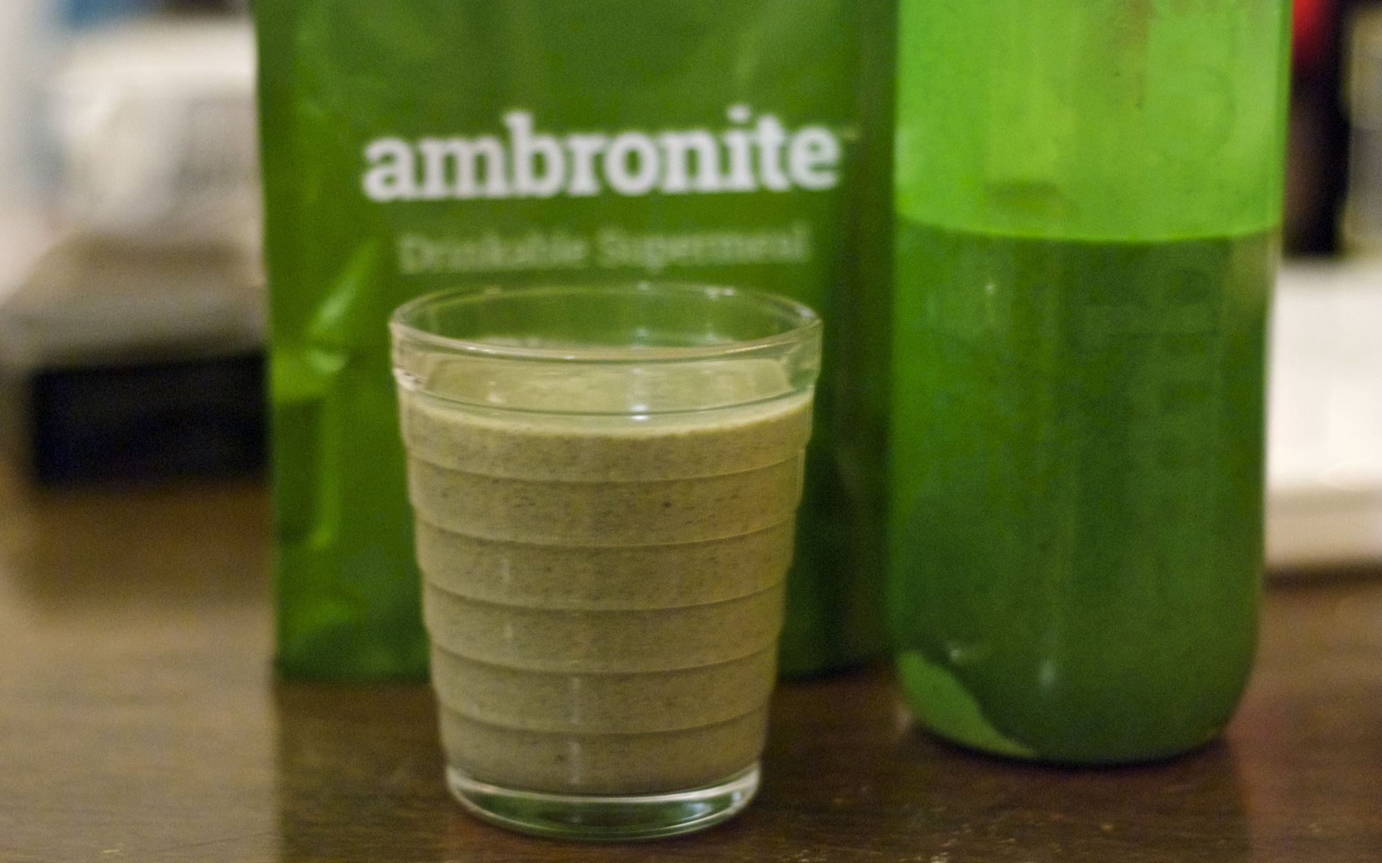 A glass of Ambronite