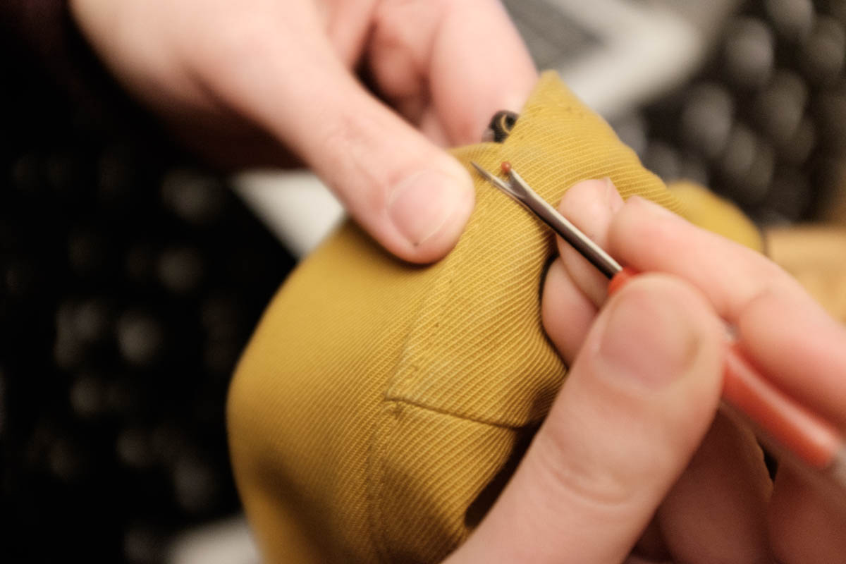 Ripping seams is easy when you use the right tool.