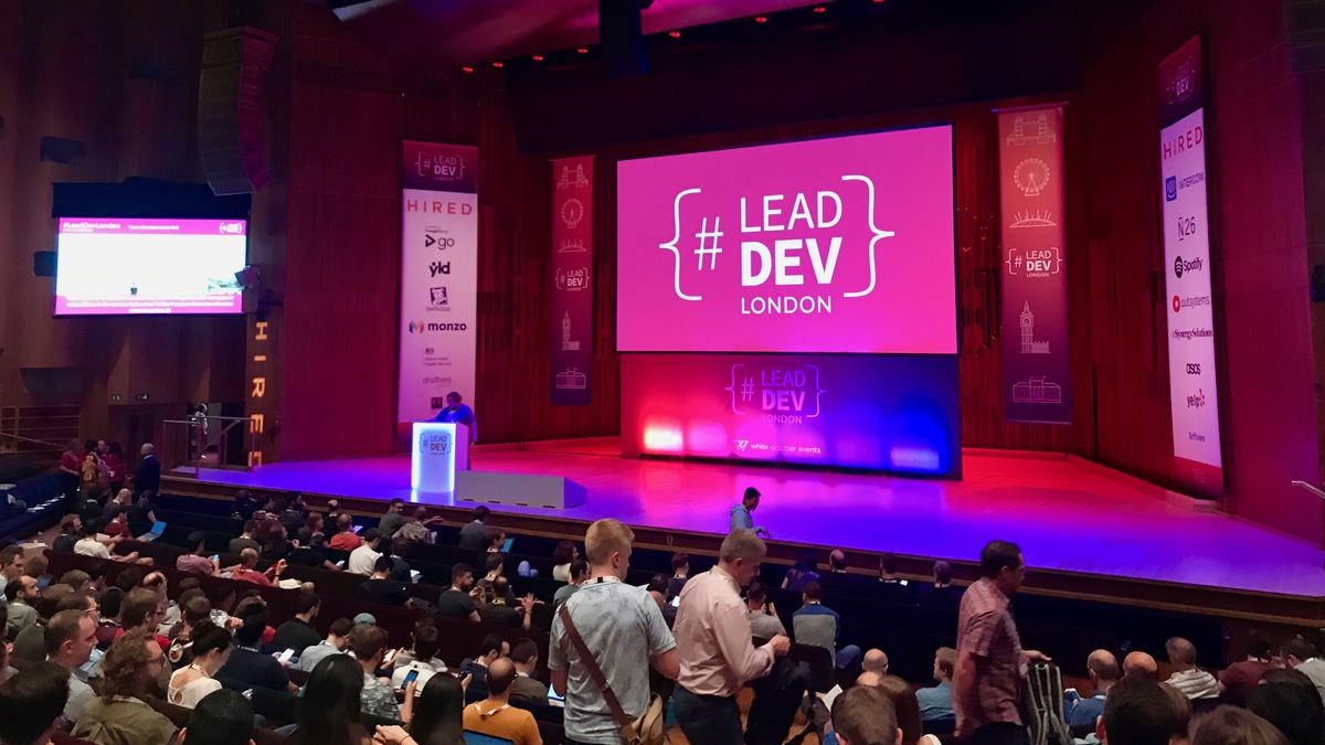 The opening of The Lead Developer London conference.