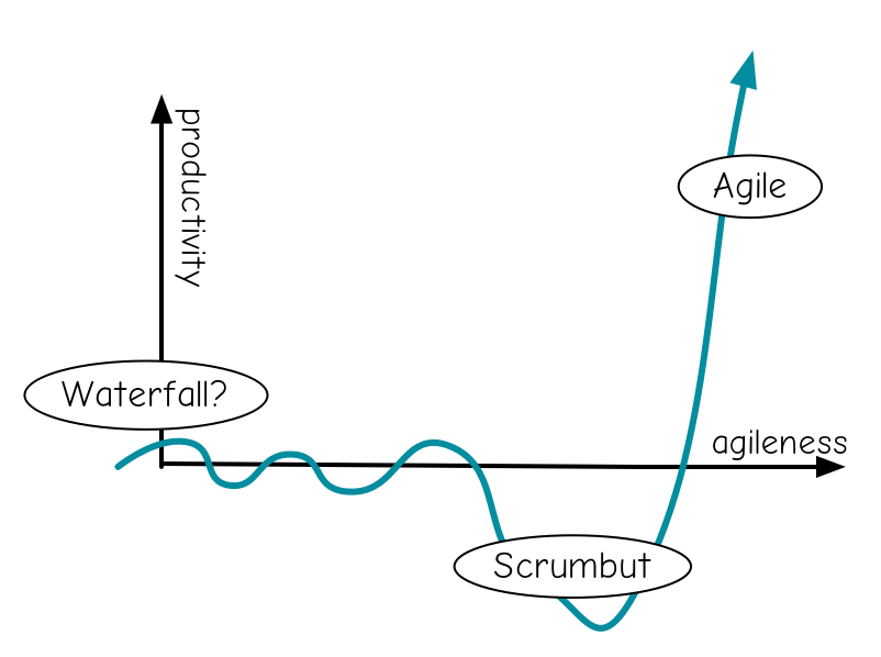 "Scrumbut is where you almost use Scrum: ""We use Scrum, but…"