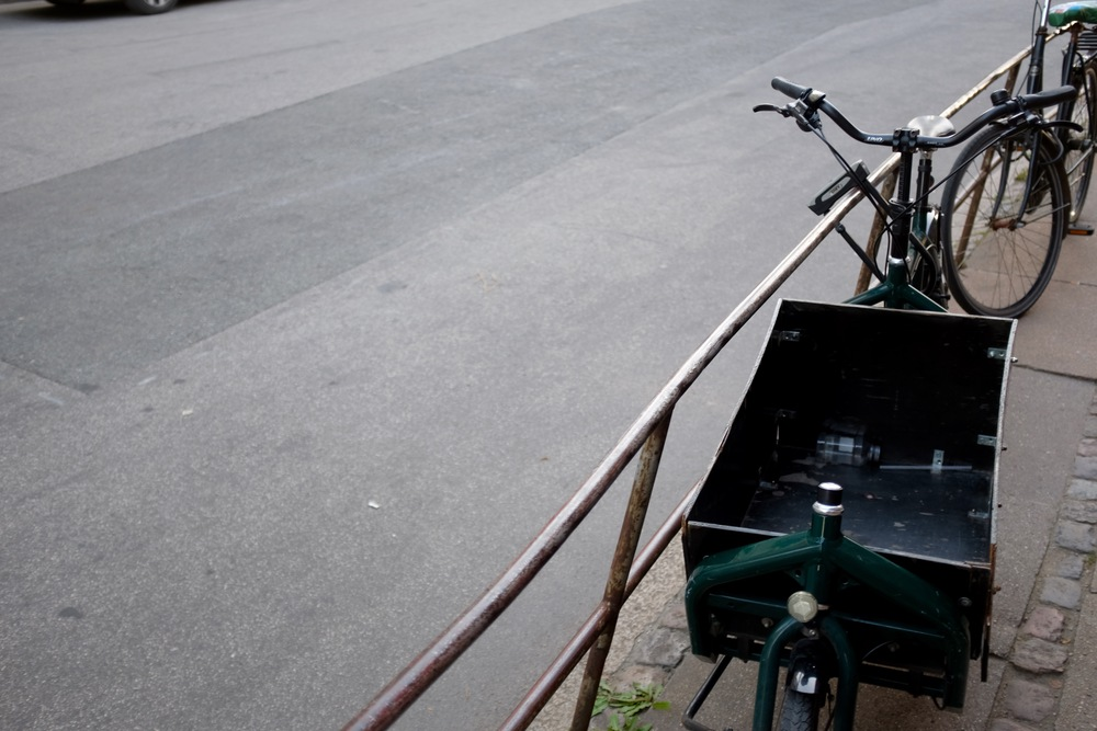 A cargo bike. Copenhagen is full of them. (Flickr)