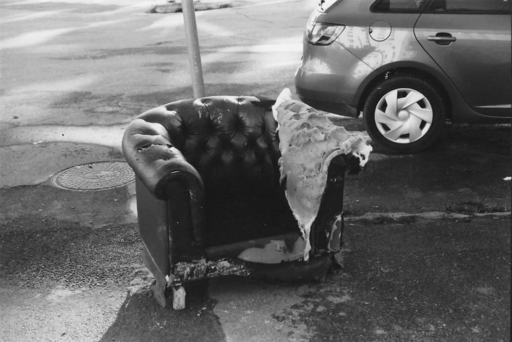 A broken armchair in kallio one of my first film shots flickr